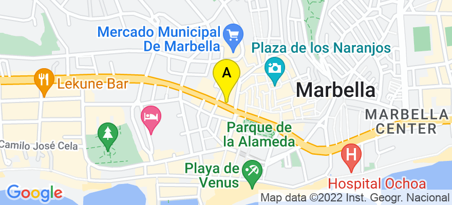 situacion en el mapa de . Direccion: Av. Ricardo Soriano nº 65, 4º - 4, 29601 Marbella. Málaga
