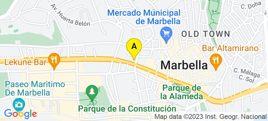 situacion en el mapa de . Direccion: AV RICARDO SORIANO EDIF SABADELL 22, 4-2, 29601 Marbella. Málaga
