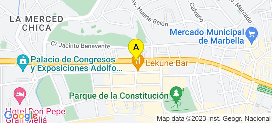situacion en el mapa de . Direccion: Avda. Ricardo Soriano, 29600 Marbella. Málaga
