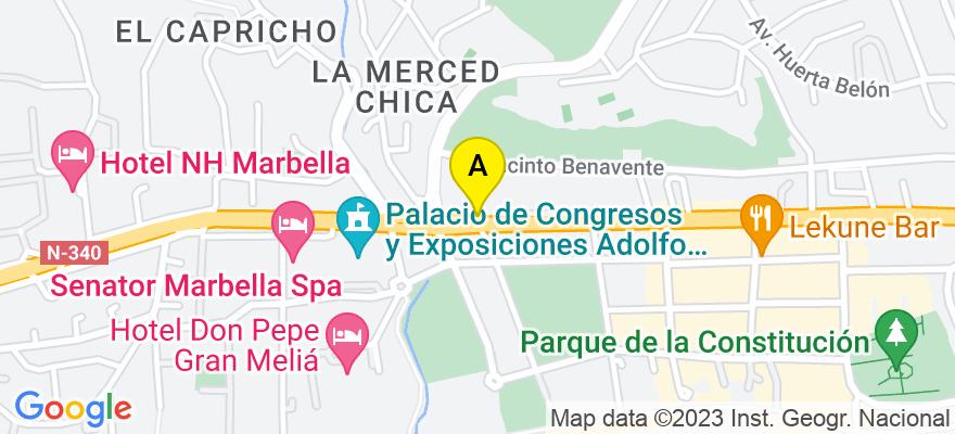 situacion en el mapa de . Direccion: Avda. Ricardo Soriano, 72, Portal B, 1º, 29601 Marbella. Málaga
