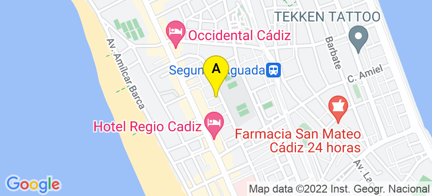 situacion en el mapa de . Direccion: c/ Tarsis 1, 2 D, 11009 Cádiz. Cádiz