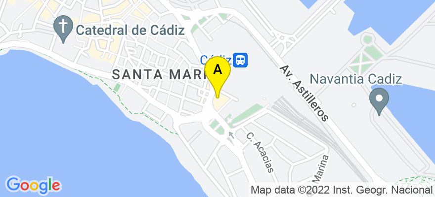 situacion en el mapa de . Direccion: Paseo Marítimo, nº 19, 3ºB., 11011 Cádiz. Cádiz
