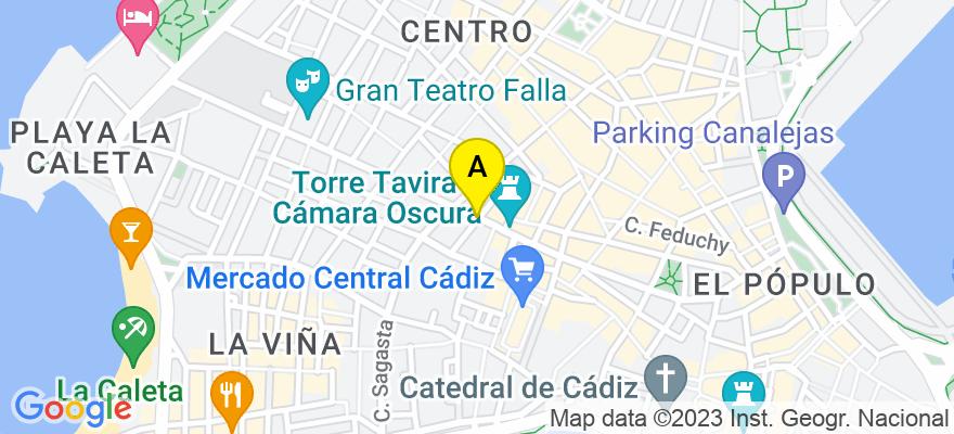 situacion en el mapa de . Direccion: C/ Rosario Cepeda, 11001 Cádiz. Cádiz