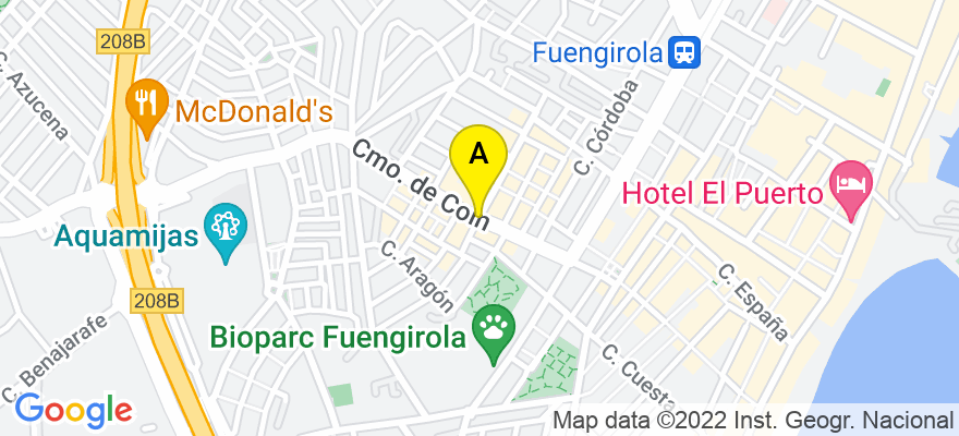 situacion en el mapa de . Direccion: Camino Coín, 29640 Fuengirola. Málaga