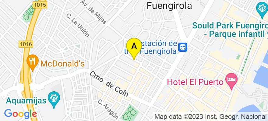 situacion en el mapa de . Direccion: calle doctor ochoa, 15, 29649 Fuengirola. Málaga