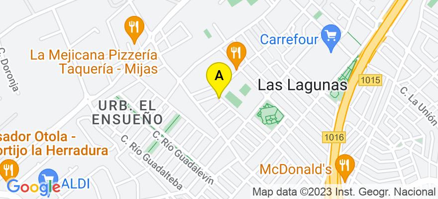 situacion en el mapa de . Direccion: Río Torrente, 14 (Las Lagunas), 29640 Fuengirola. Málaga