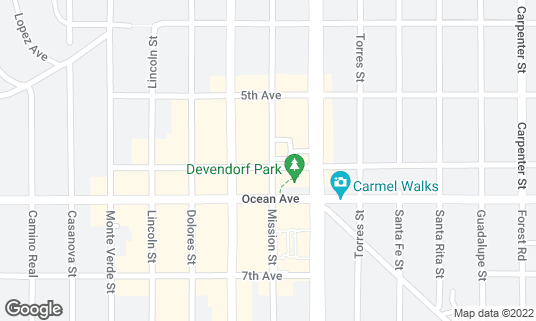 Map of Grasing's at 6th Ave Carmel-by-the-Sea, CA