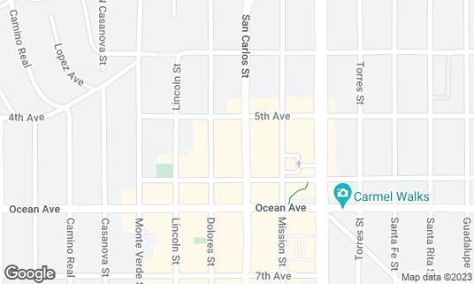 Map of Hog's Breath Inn at San Carlos St Carmel-by-the-Sea, CA