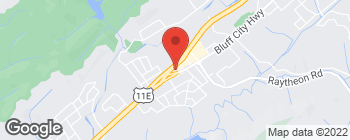 Map of 1510 Bluff City Hwy in Bristol