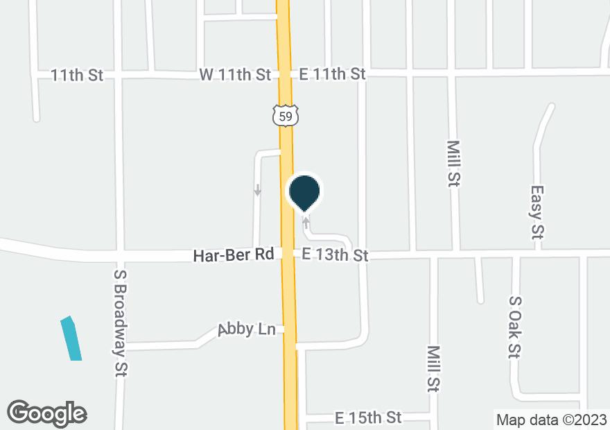 Google Map of1119 S MAIN ST