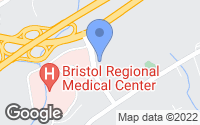 Map of Bristol, TN