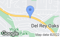 Map of Del Rey Oaks, CA