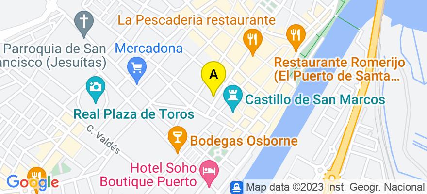 situacion en el mapa de . Direccion: PLAZA DE ISAAC PERAL 2, BAJO DERECHA, 11500 El Puerto de Santa María. Cádiz