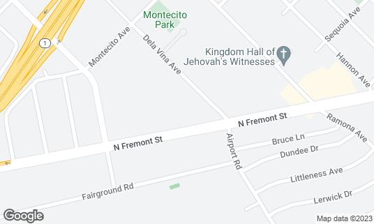 Map of Monterey Lanes at 2161 Fremont St Monterey, CA