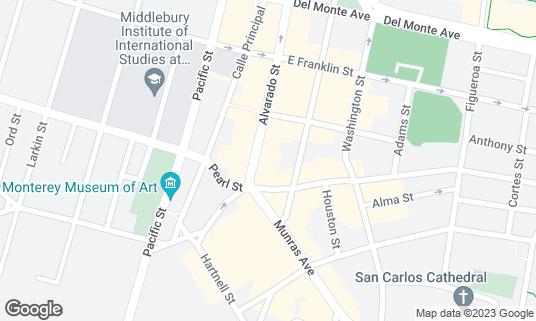 Map of Bull and Bear Whiskey Bar & Taphouse at 479 Alvarado St Monterey, CA
