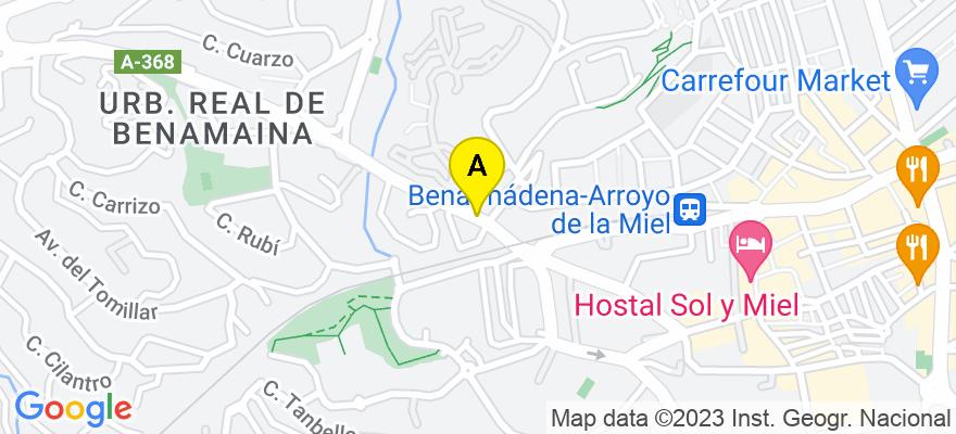 situacion en el mapa de . Direccion: Av. Tívoli, 5, 29631 Benalmádena. Málaga