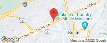 Map of 1701 Euclid Ave in Bristol