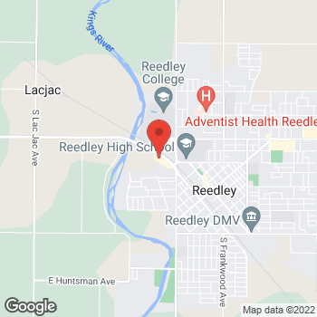 Map of Check `n Go I Street at 593 I Street, Reedley, CA 93654