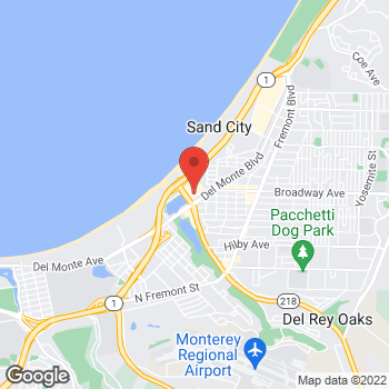 Map of Staples at 1550 Canyon Del Rey Blvd., Seaside, CA 93955