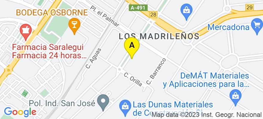 situacion en el mapa de . Direccion: C/Manantial, nº 13, Edificio CEEI, Of. 148., 11500 Cádiz. Cádiz