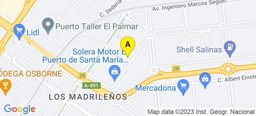 situacion en el mapa de . Direccion: c/Doctor Duarte Acosta Número 7, 11500 El Puerto de Santa María. Cádiz