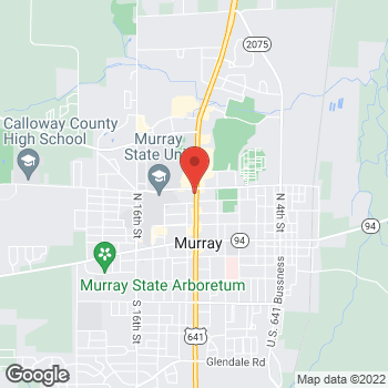 Map of Arby's at 409 N. 12th Street, Murray, KY 42071