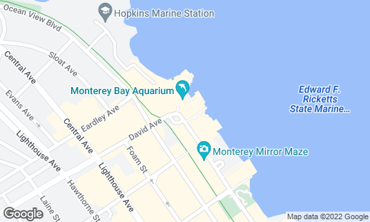 Map of Monterey Bay Aquarium at 886 Cannery Row Monterey, CA