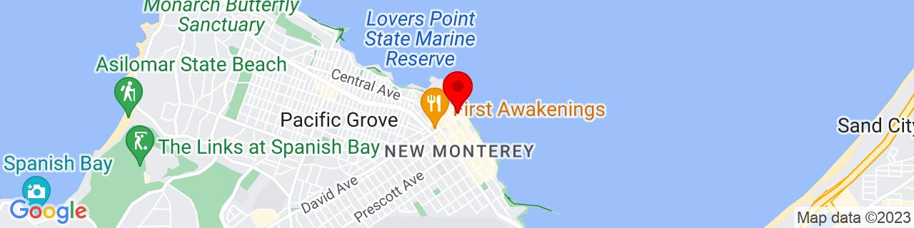 Google Map of 36.618266, -121.902339