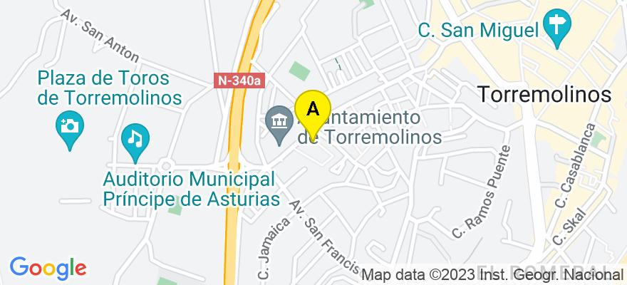 situacion en el mapa de . Direccion: Plaza Federico García Lorca 2 1W, 29620 Torremolinos. Málaga