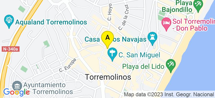 situacion en el mapa de . Direccion: flores, 29005 Málaga. Málaga