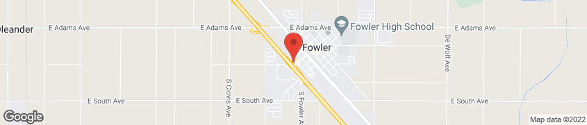 Map of 160 N 10th Street in Fowler
