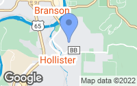 Map of Hollister, MO