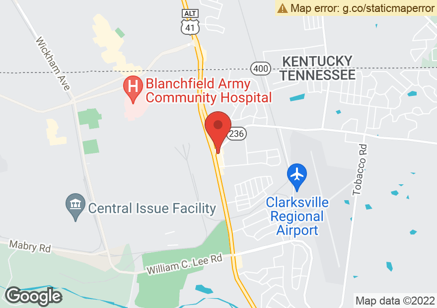 Google Map of 2975 FORT CAMPBELL BLVD