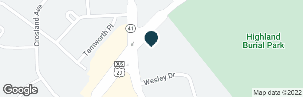 Google Map of1500 PINEY FOREST RD