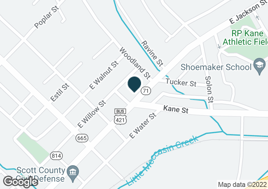 Google Map of119 EAST JACKSON ST