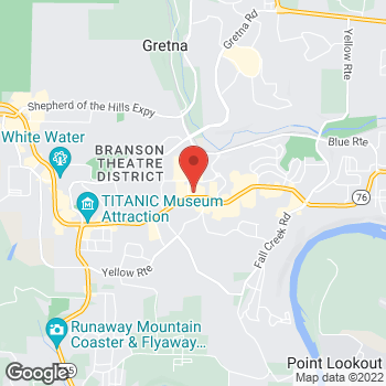 Map of Denny's de Branson at 2335 West Hwy 76, Branson, MO 65616