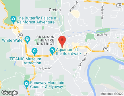 Map of 2335 WEST 76 COUNTRY BLVD in BRANSON