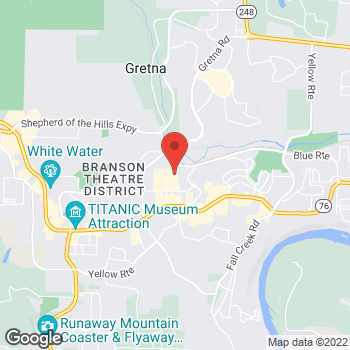 Map of Christopher & Banks Outlet at 300 Tanger Boulevard, Branson, MO 65616
