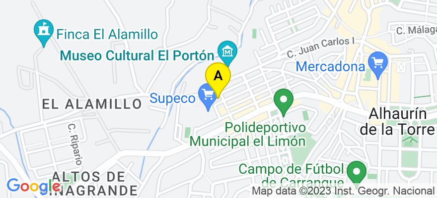 situacion en el mapa de . Direccion: C/ Sant Juan ed la Cruz s/n, 29010 Alhaurín de la Torre. Málaga