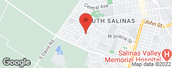 Map of 975 W Alisal St in Salinas