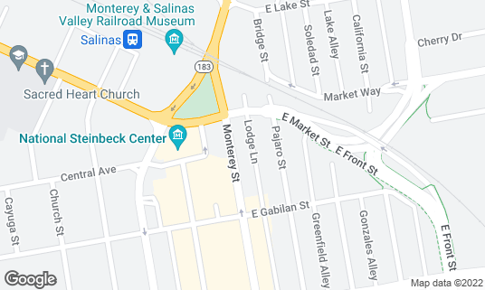 Map of Banker's Casino at 111Monterey St Salinas, CA