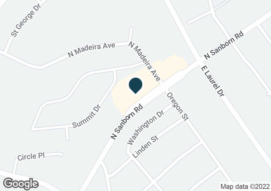 Google Map of575 N SANBORN RD