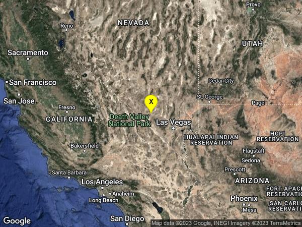 earthquake 54km NNW of Pahrump, Nevada