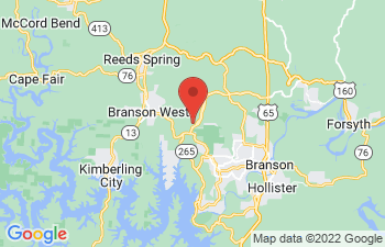 Map of Branson West