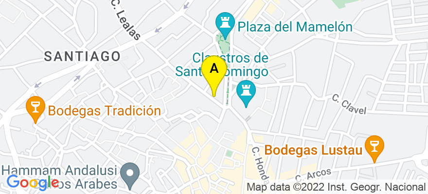 situacion en el mapa de . Direccion: Calle  Porvera, 6, 11403 Jerez de la Frontera. Cádiz