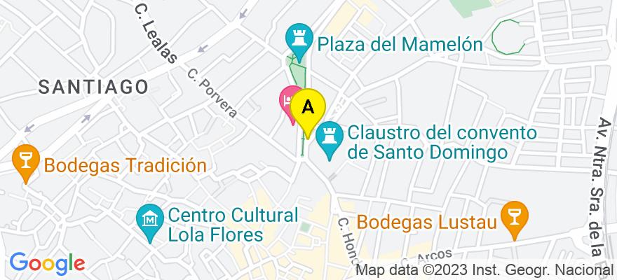 situacion en el mapa de . Direccion: AVDA. VALLESEQUILLO BL I 6ºB, 11402 Jerez de la Frontera. Cádiz
