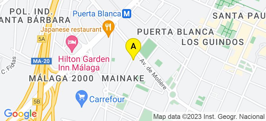 situacion en el mapa de . Direccion: C/ Palma del Río, 19, 29004 Málaga. Málaga