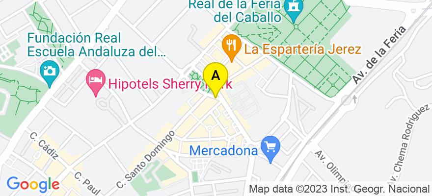 situacion en el mapa de . Direccion: Avenida de Méjico 11, 11405 Jerez de la Frontera. Cádiz