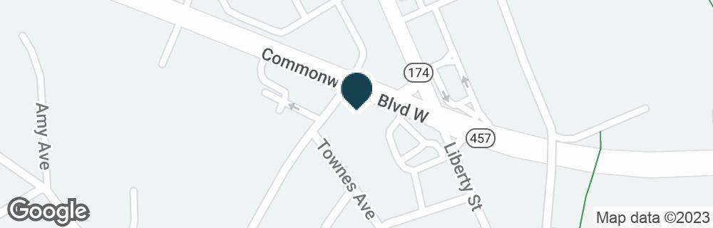 Google Map of103 COMMONWEALTH BLVD W