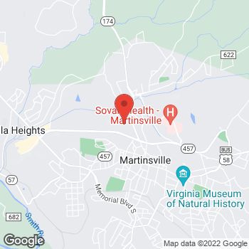 Map of location-map at 240 Commonwealth Blvd, Martinsville, VA 24112